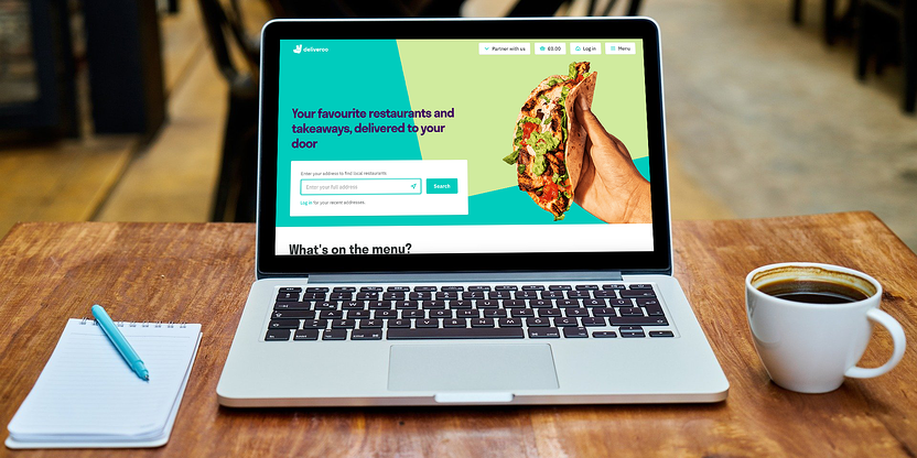 Deliveroo home screen
