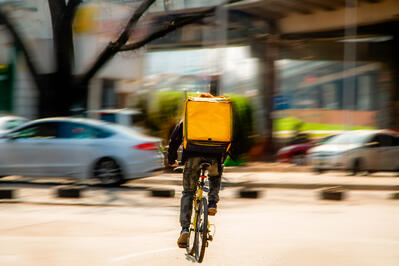 Food delivery rider
