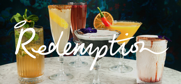 Redemption selection of cocktails